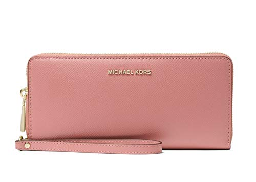 Michael Kors Saffiano Leather Jet Set Travel Continental Wristlet Wallet in Rose (Michael Kors Online Shop De)