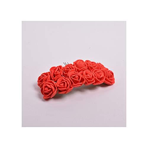huayun Artificial Flower Mini Foam Rose for Home Decoration DIY Handcraft Bridal Wreath Gift Scrapbooking Fake Flower,Red