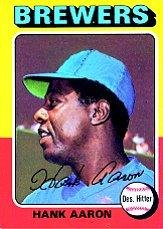 Amazoncom 1975 Topps Baseball Card 660 Hank Aaron Near