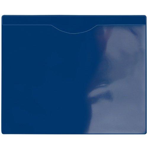 StoreSMART - File Jacket with Magnetic Back - 50-Pack - Blue Plastic Back, Clear Plastic Front - Heavy Duty - FJ85PQBM-50