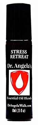 Dr. Angela's Stress Retreat Essential Oil Blend with Cannabis Therapeutic Grade Anxiety Relief Roll-On Bottle 10ml (.33 fl oz)