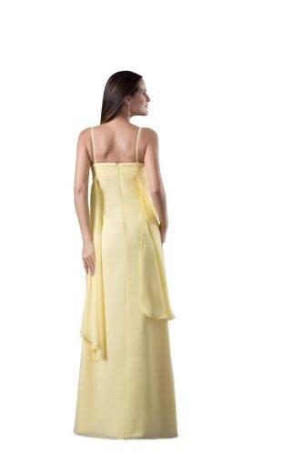 Orifashion para vestido de noche mujer suelo largo amarillo amarillo