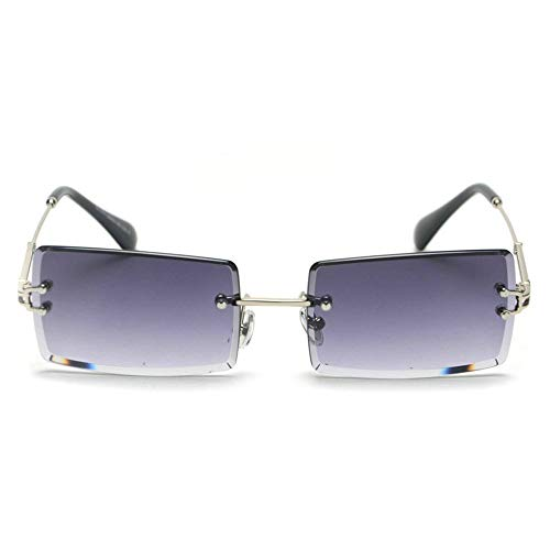 MINCL/Fashion Small Rectangle Sunglasses Women Ultralight Candy Color Rimless Ocean Sun Glasses ()