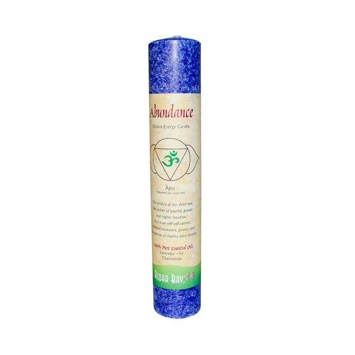 (Aloha Bay Chakra Pillar Abundance Candle, Indigo)