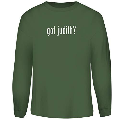 One Legging it Around got Judith? - Men's Funny Soft Adult Crewneck Sweatshirt, Military, ()