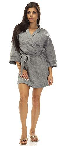 Jessica Simpson (7052JS Womens Super Soft Luxury Hotel Spa Robe in Gray (020), Medium