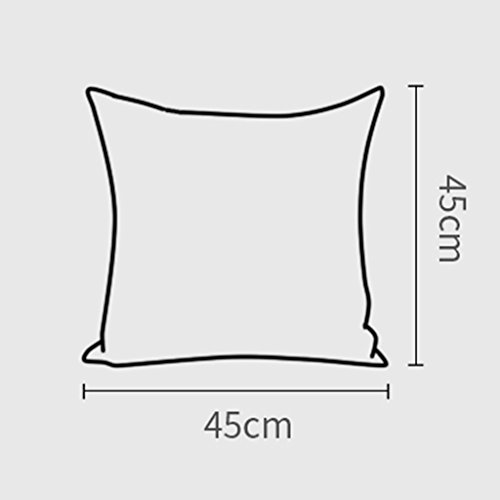 ZUOANCHEN Cushion Simple and Modern Small Clean Pillow Embroidery Cotton and Linen Sofa Living Room Head Office Cushion with Pillow4545CM (Color : Coffee) by ZUOANCHEN Bed Rest Pillows (Image #1)