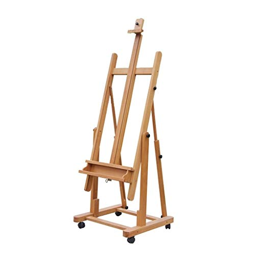 RMXMY Portable Collapsible Beech Wood Multi-Function Flat Dual-use Floor Oil Painting Sketch Wooden Display Easel