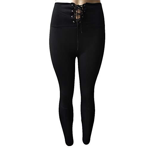 Noir Imjono De Pantalon Femmes Et Slim Haute Femme À La Bandage TailleJambière Pour Actif Taille zMqpVSU