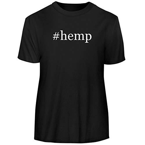 One Legging it Around #Hemp - Hashtag Men's Funny Soft Adult Tee T-Shirt, Black, Large