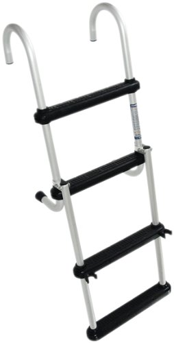 Windline FDL-4B Marine Removable Folding Pontoon Boat Ladder with 4 Plastic Steps ()