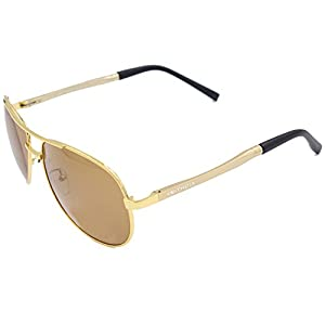 VEITHDIA 1306 New Fashion Golden UV400 Adjustable Polarized Aviator Sunglasses