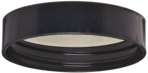 Wheaton W239306 Black Phenolic Screw Cap with 14B White Rubber Liner, 48-400 Size (Pack of 72)