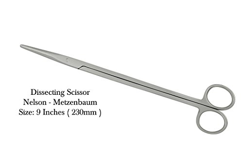 Metzenbaum-Nelson Dissection Scissors Surgical Sharp/Blunt by NEWMARK