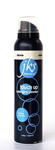 Touch up spray CHROME / SILVER, temporary hair color spray powder for ombres and highlights (Jks Hair Color)