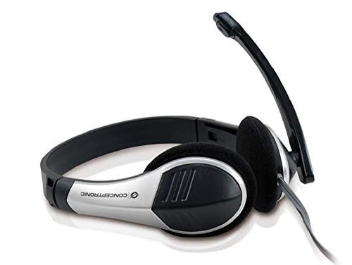 Conceptronic C08-045 - Auriculares de diadema abiertos (con microfono), negro