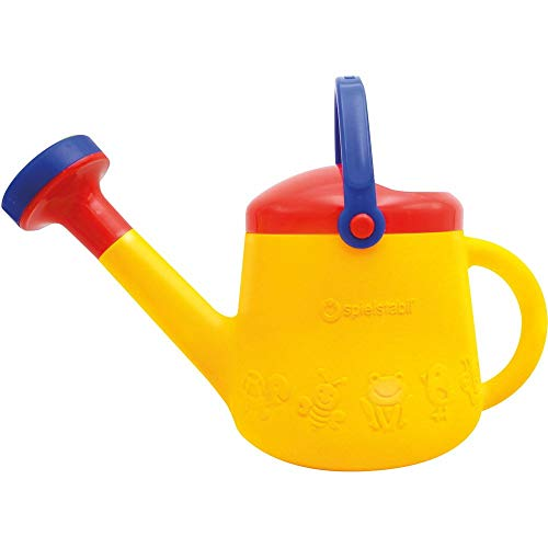 - Spielstabil Classic Yellow Watering Can - with 2 Handles for Ages 18 Months and Up - Holds 1 Liter (Made in Germany)