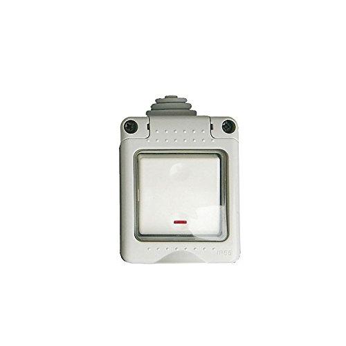 Caja estanca 2 modulos con pulsador led IP 65 GSC