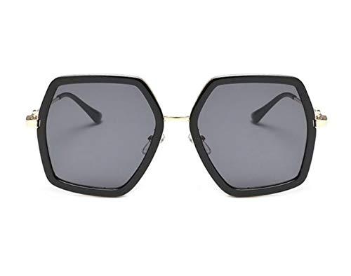 sol gafas los Grey FlowerKui sol elegantes protección de de Dark hombres UV400 y de Gafas de Mujeres grandes fqRWwUYA