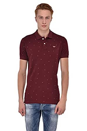Sting Red Brown Shirt Neck T-Shirt For Men