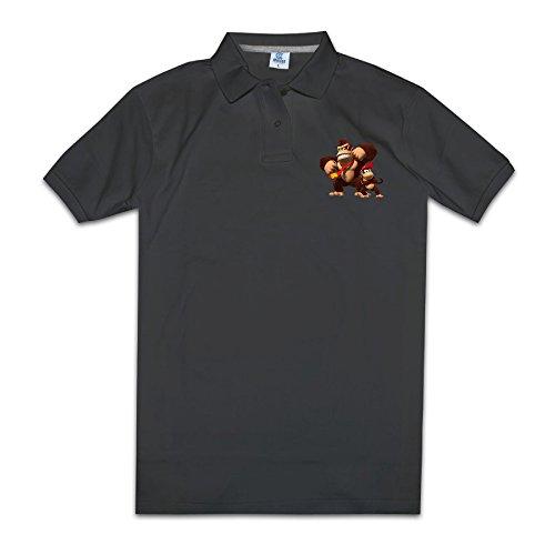 [Kakakaoo Men's Donkey Kong And Diddy Kong Polo T Shirts Size XXL Black] (Donkey Kong Costume For Women)