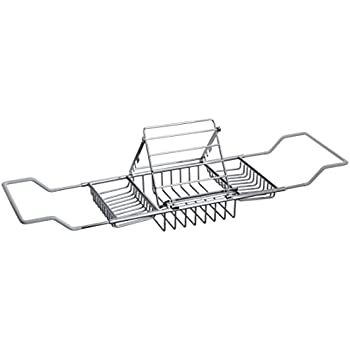 Umbra Aquala Bamboo And Chrome Extendable Bathtub Tray