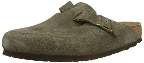 Birkenstock Clog Sandal - Birkenstock Unisex Boston BS Soft Footbed Suede Forest Sandals 8 W / 6 M US