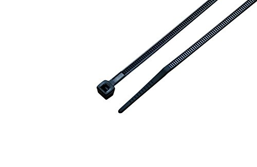 South Main Hardware 848100 4 Inch 100-Pack, 18-Lb Test, Small, Black Uv Cable Ties, 100 Tie