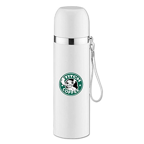 Custom Stylish Stainless Steel Drink Cup Cartoom Role Coffee Thermos For Hiking Camping White 14.5oz/350ml by Jade Tumbler (Toy Story Thermos Cup compare prices)