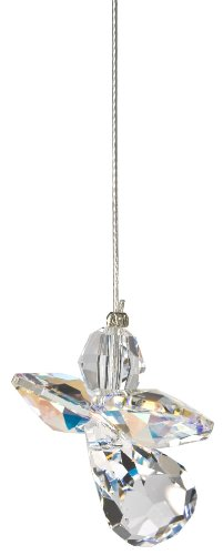 Woodstock Chimes Crystal Guardian Angel Suncatcher, Aurora Borealis (April) -
