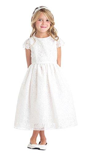 iGirldress Flower Girl First Communion Pageant Wedding Birthday Dress (Girls First Communion Dress)