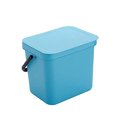 MADHEHAO Vuilnisbak Keuken wandgemonteerde rechthoekige vuilnisbak met deksel voor huishoudelijk gebruik, afmeting: 22,5…