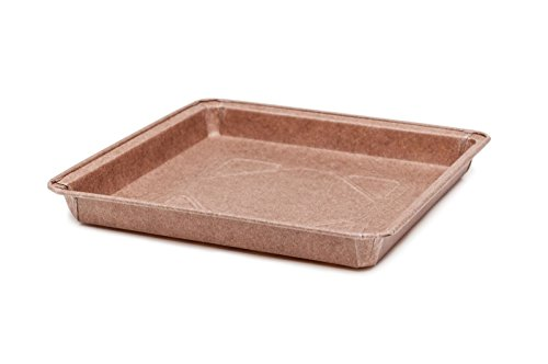 Square Pie Range Mold , Easy Baking /easy release, Good For Buns, Cheese Danishes, Cinnamon Danish, Chocolate Danish Size 6.4 x 6.4'' Sw 0,63'' x T-in 6-11/16''x T-out 7-1/4 Model 8016218B (200) by Ecobake
