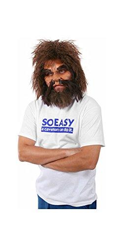 Cave Man Half-Mask Costume Accessory]()