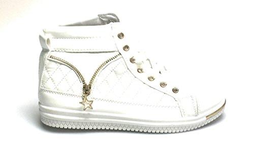 Torna A Scuola Eleganti Scarpe Da Ginnastica Metalliche Moda Per Le Donne Bianche Comode Ed Eleganti