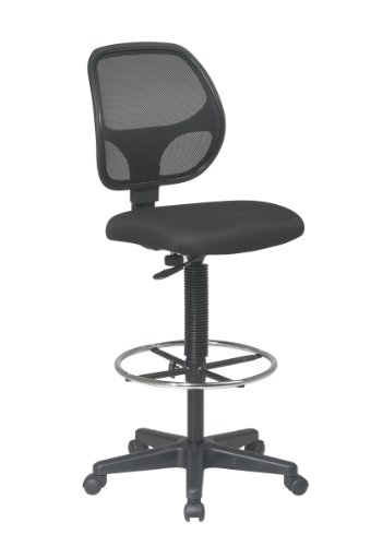 Office Star Deluxe Mesh Back Drafting Chair with 18.5