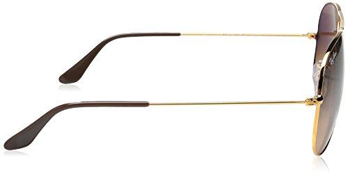 Mixte Rb Adulte 58 Ban Gris Montures de Bronze Lunettes mm 3025 Ray OYwfx