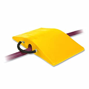 """Super-Cross COP2200-3 Polyurethane Lightweight Utility Crossover Cable Protector, 3"""" Tunnel Diameter, Yellow, 18"""" Length, 30"""" Width, 5"""" Height"""
