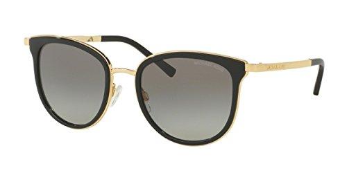 Image of Michael Kors ADRIANNA I MK1010 Sunglasses 110011-54 - Black/Gold Frame, Grey Gradient