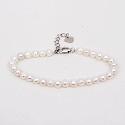 5 Strand Pearl Bracelet - Field4U® 5-6mm Freshwater AAA Cultured Pearl Bracelet (White)