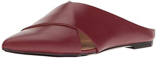 Leather Pointed Toe Mules (Calvin Klein Women's Gerda Mule, Red, 6 Medium US)