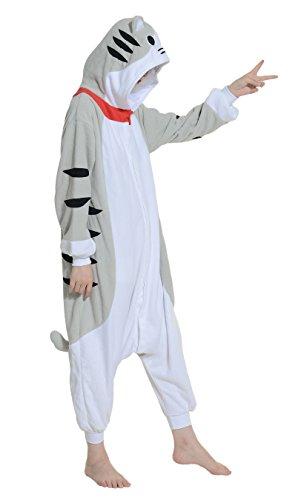 DATO Ropa de Dormir Pijama Gato Atigrado Cosplay Disfraz Animal Unisexo Adulto gato atigrado