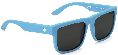 Spy Discord Sunglasses - Polarized HAPPY LENS Blue Clear/Black Mirror, One - Lens Discord Spy Happy