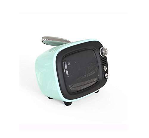 ShiMin レトロなブルートゥースのスピーカーの無線小型携帯用スピーカーの低音の目覚し時計のスピーカー (Color : ブルー)   B07QB26FDY