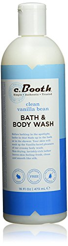 c.Booth Clean Vanilla Bean Bath Body Wash, 16 Fluid Ounce