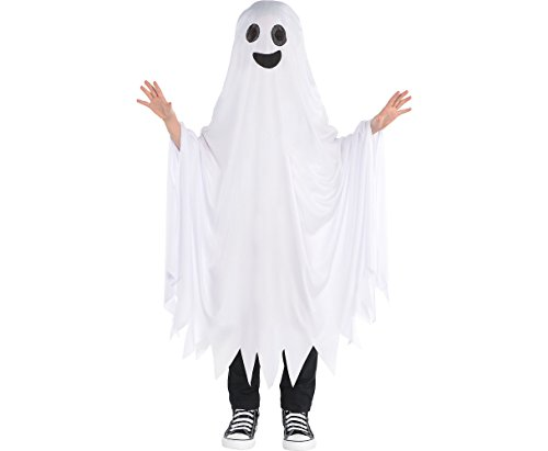 AMSCAN Boo Ghost Halloween Costume for Kids, One Size