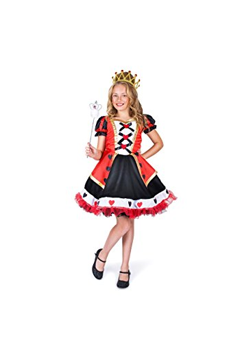 Queen of Hearts Girl Costume Set - Costume Party, Trick or Treating - (Cheap Queen Of Hearts Costumes)