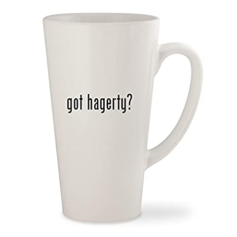 got hagerty? - White 17oz Ceramic Latte Mug Cup - Hagerty Table