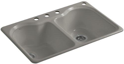 Kohler K-5818-4-K4 Hartland Self-Rimming Kitchen Sink wit...
