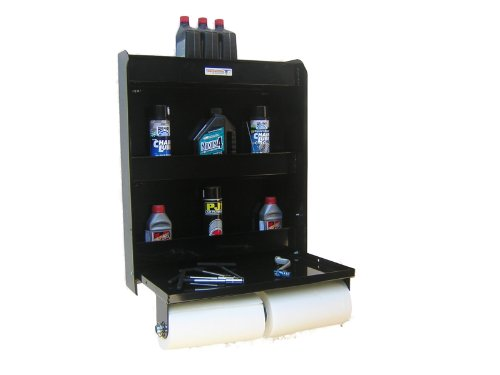 Pit Posse Aluminum Work Station Storage Cabinet Trailer Shop Shelf Race Enclosed Trailer Black by Pit Posse